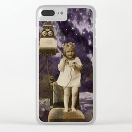 Little Lady of Celestial Night by HJ Tanner Studio Clear iPhone Case