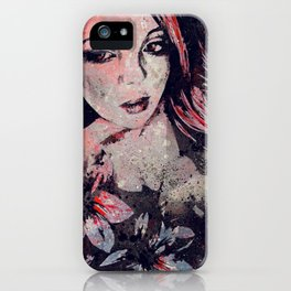 Ruined Our Everything: Red (graffiti flower lady portrait) iPhone Case