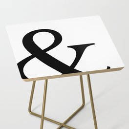 Typography, Ampersand, And Sign Side Table