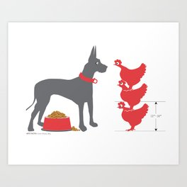 dane and chickens poster Art Print