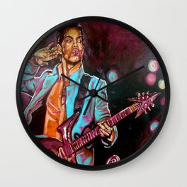 Purple Funk Wall Clock