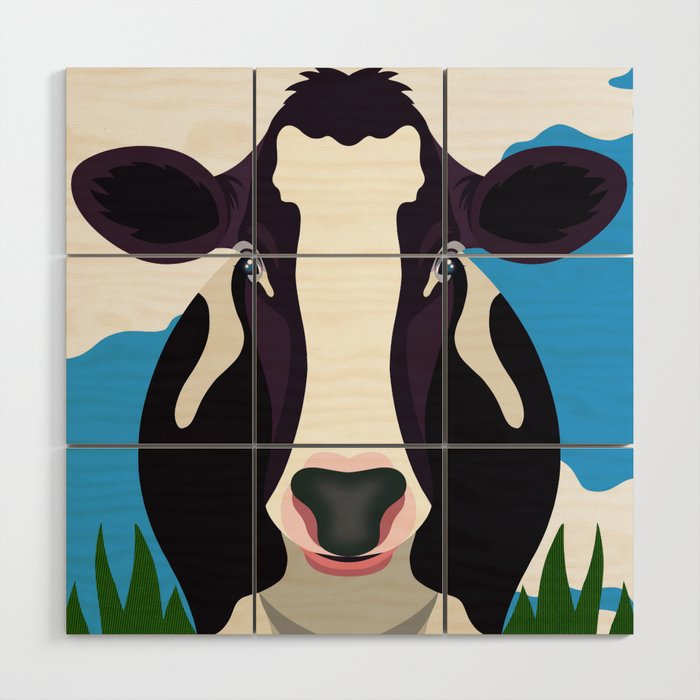 Cow Wood Wall Art