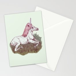 The Resting Unicorn Stationery Cards