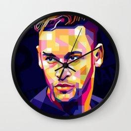 NeymarJr drawing Wall Clock