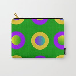 Mardi Gras Polka Dots Carry-All Pouch