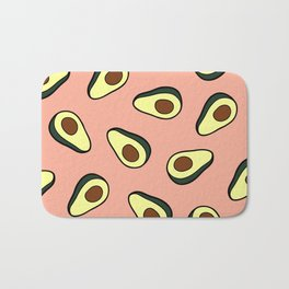 Avocado Pattern in Pink Bath Mat