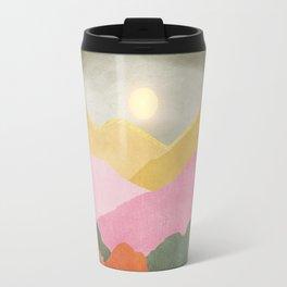 Colorful mountains Travel Mug