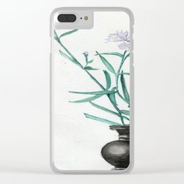 Blades Of Green Clear iPhone Case
