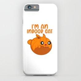 I'm an Indoor Cat Orange Cats Lover iPhone Case