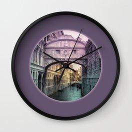 Ponte dei Sospiri   Bridge of Sighs - Venice (colored version) Wall Clock