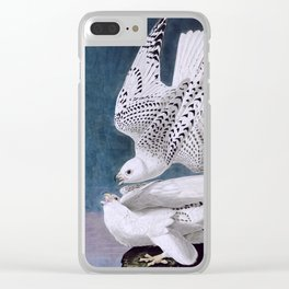 Iceland or Jer Falcon, Plate 366 of Birds of America by John James Audubon Clear iPhone Case