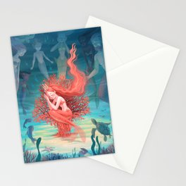Living Coral Stationery Cards
