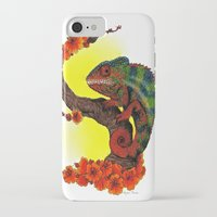chameleon iPhone & iPod Cases featuring Chameleon by Allyson Travis