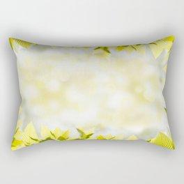 Elm green bright leaves and blurred bokeh Rectangular Pillow