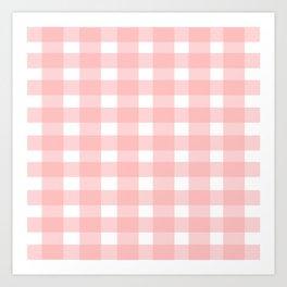 Pink Gingham Design Art Print