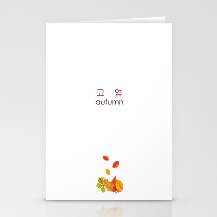 bts 고엽 autumn leaves stationery cards by keuphonii society6