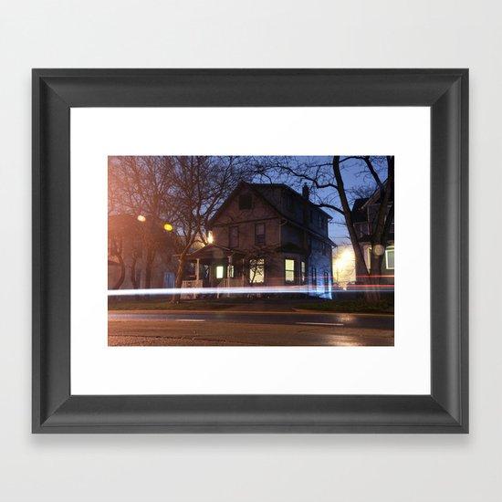 House Not On the Corner Framed Art Print