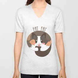 Fat Fat the Cat! Unisex V-Neck