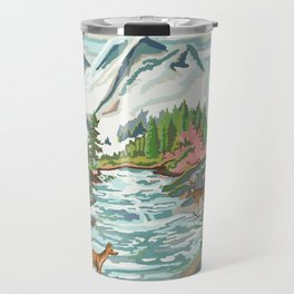 Paint by Number Mountain Medow Travel Mug