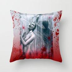 Shower Slasher Throw Pillow