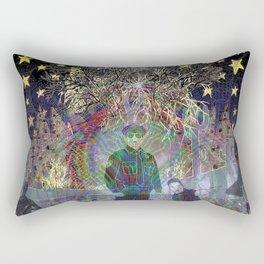 Cop vs Psychedelic Rectangular Pillow