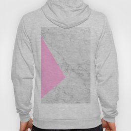 Pink Marble Collage Hoody