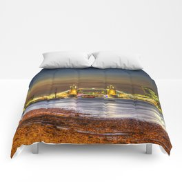 London at Night Comforters