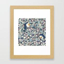 Baby Penguin Pattern Framed Art Print