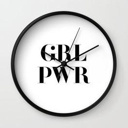 Girl Power - GRL PWR Wall Clock