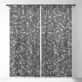 Equation Overload Sheer Curtain