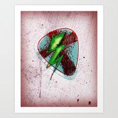 LIGHTNING GUITAR PICK Art Print