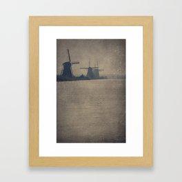 Kinderdijk Windmills II Framed Art Print