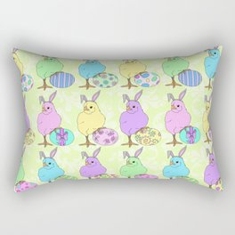 Easter Chicks Citrus 2 Rectangular Pillow