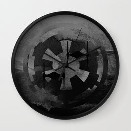 Galactic Empire Tie Fighters on Gray Wall Clock