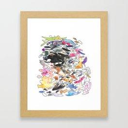 coloured splotches Framed Art Print