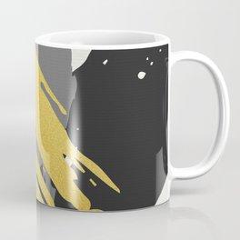 Black and Gold Brush Strokes AP178-12 Coffee Mug