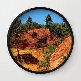 French Colorado Rustrel in Roussillon Wall Clock