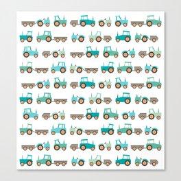 Tractors on white Canvas Print
