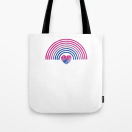 Gay Pride LGBT Bisexual Bi Rainbow  design Tote Bag