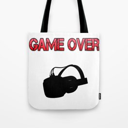 VR Game Over Red Tote Bag