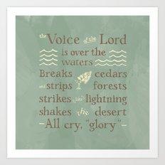 Psalm 29 Art Print