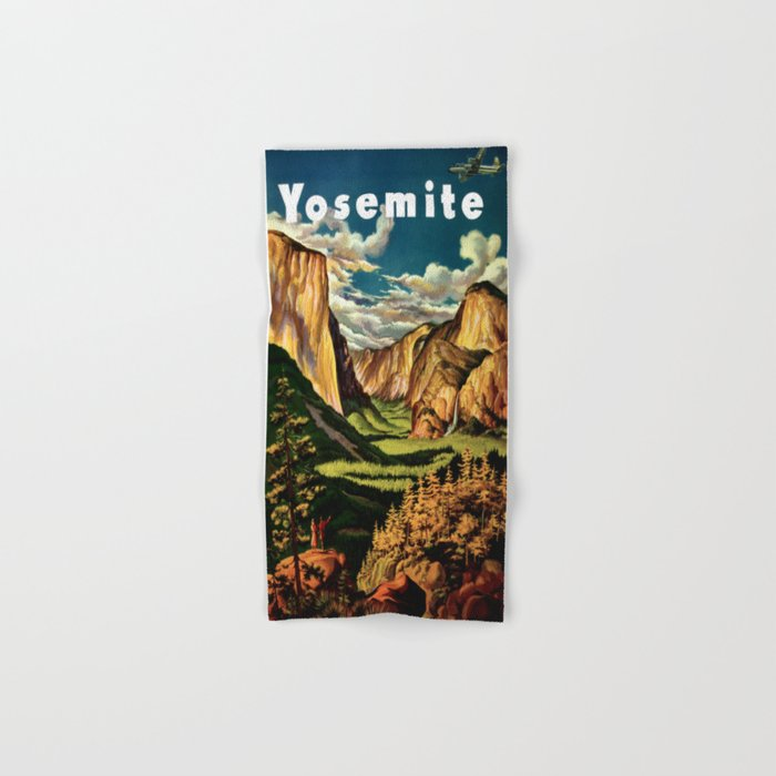 Yosemite National Park - Vintage Travel Hand & Bath Towel