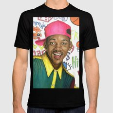 Fresh Prince of Bel Air - Will Smith Black Mens Fitted Tee LARGE