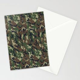 Woodland Forest Camouflage Pattern Stationery Cards