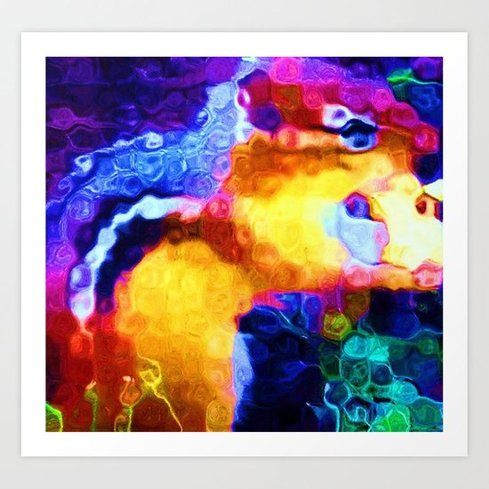 Abstract Chipmunk on the St. Lawrence Art Print