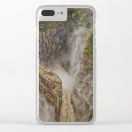 Beautiful waterfall in the rainforest Clear iPhone Case