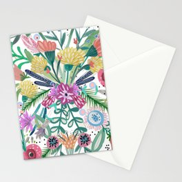 Flower burst, Illustration, print, art, pattern, floral, flowers, colour, painting, design, Stationery Cards