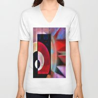 asian V-neck T-shirts featuring Asian Lights by Kristine Rae Hanning