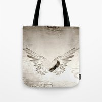 angel wings Tote Bags featuring angel wings by Mariedesignz