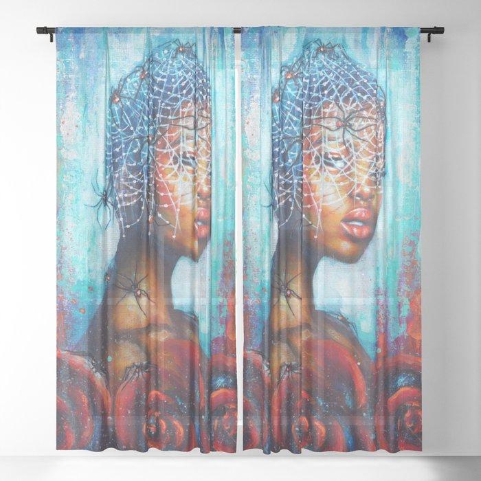 Black widow Sheer Curtain